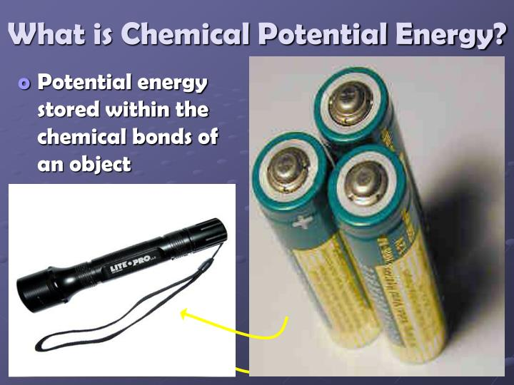 What is Chemical Potential Energy?