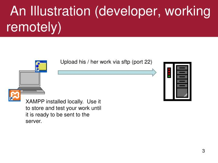 An Illustration (developer, working remotely)