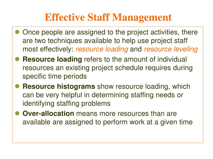 Effective Staff Management