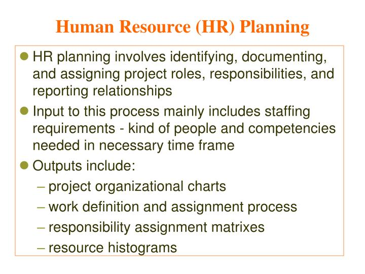 Human Resource (HR) Planning