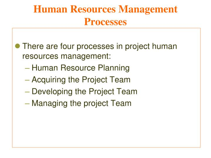 Human Resources Management Processes