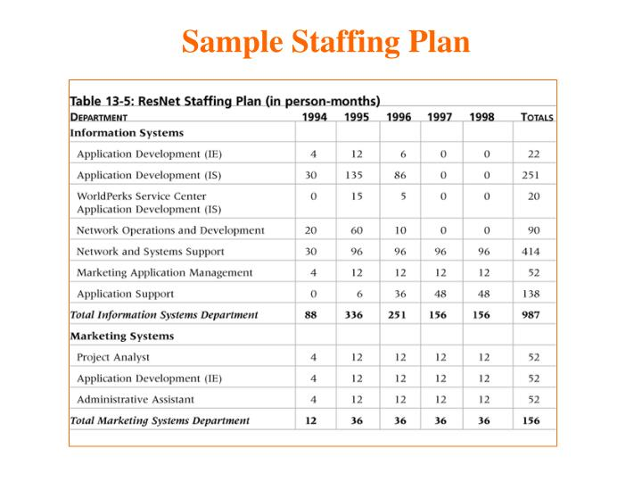 Sample Staffing Plan