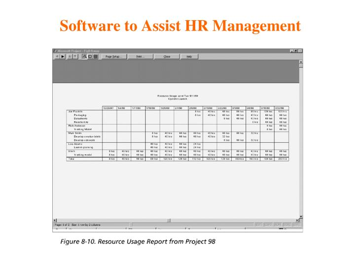 Software to Assist HR Management
