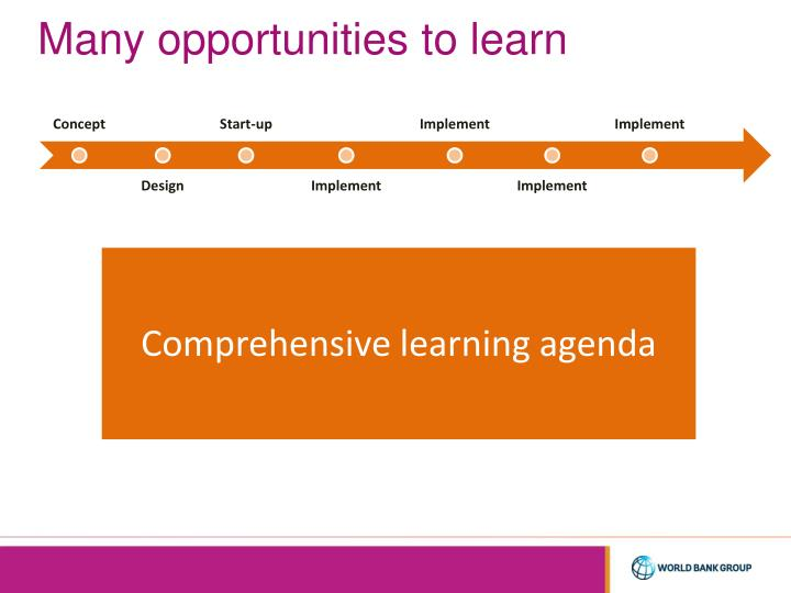 Many opportunities to learn