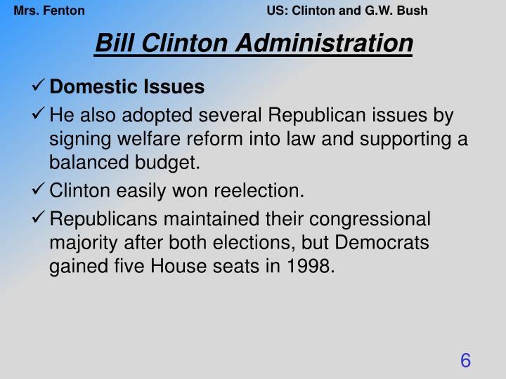 Bill Clinton Administration