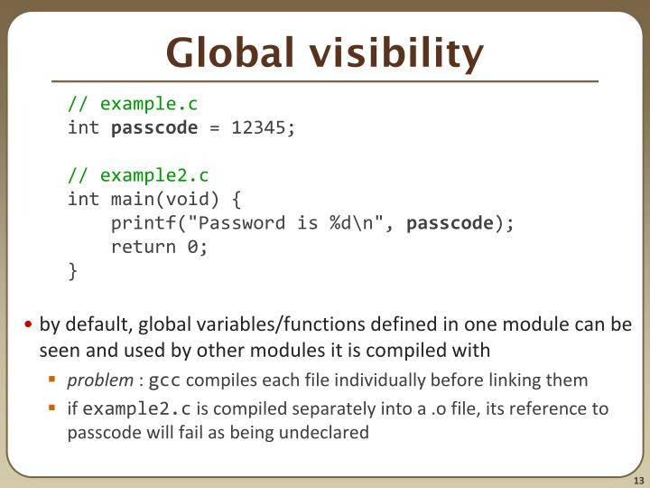 Global visibility