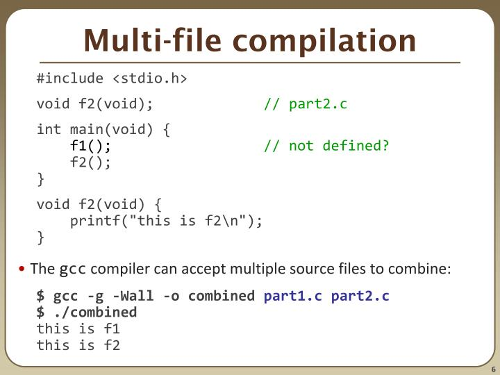 Multi-file compilation