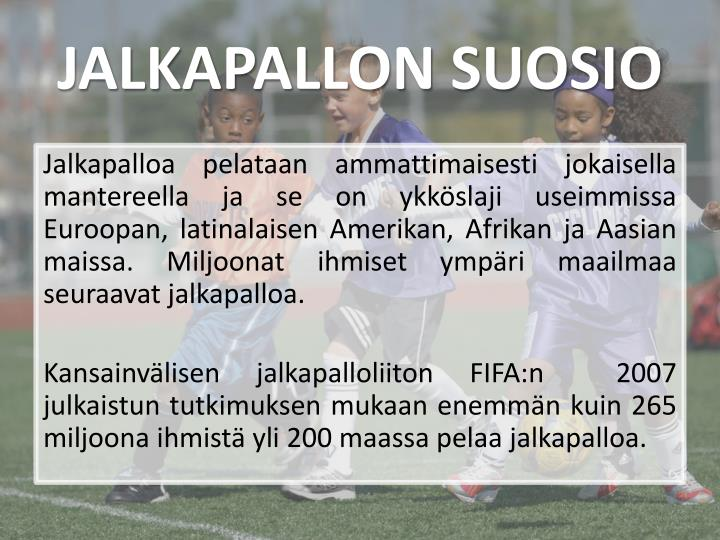 JALKAPALLON SUOSIO