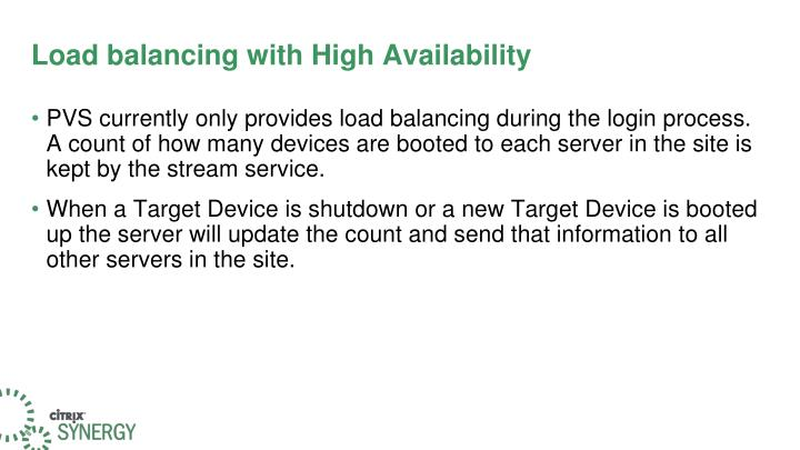 Load balancing with High Availability