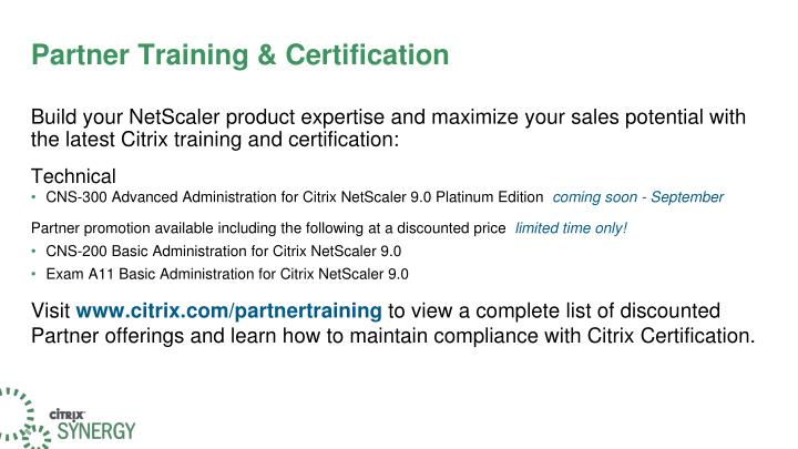 Partner Training & Certification