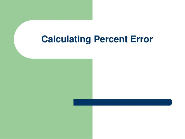 calculating percent error