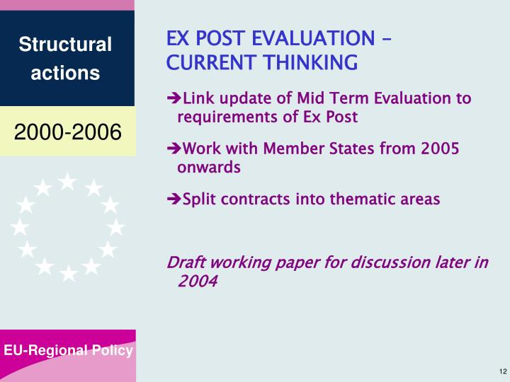 EX POST EVALUATION –