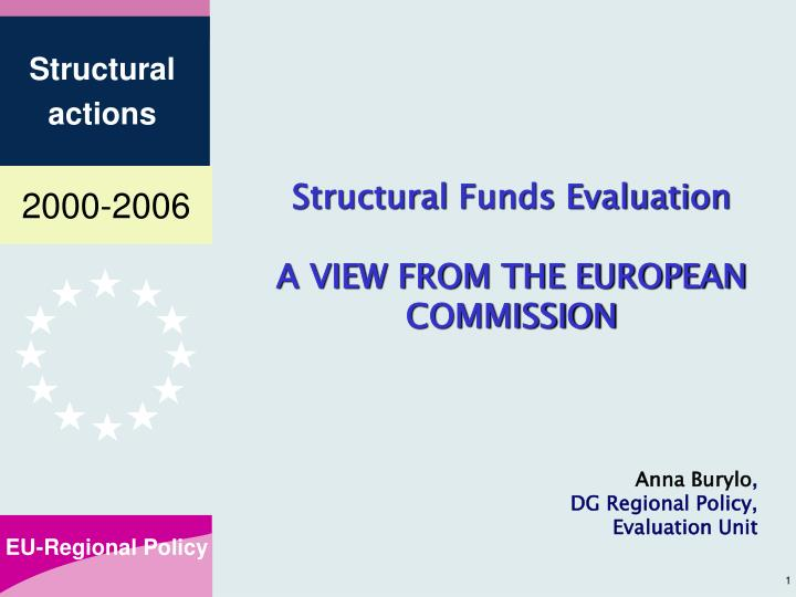 Structural Funds Evaluation