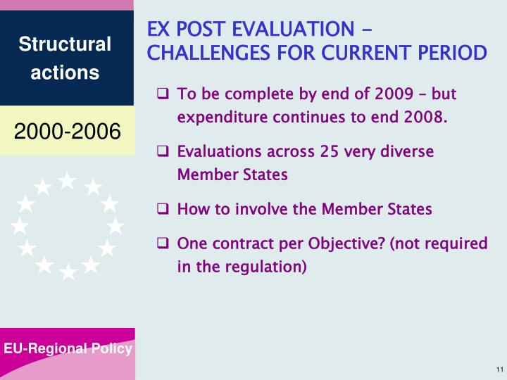 EX POST EVALUATION -