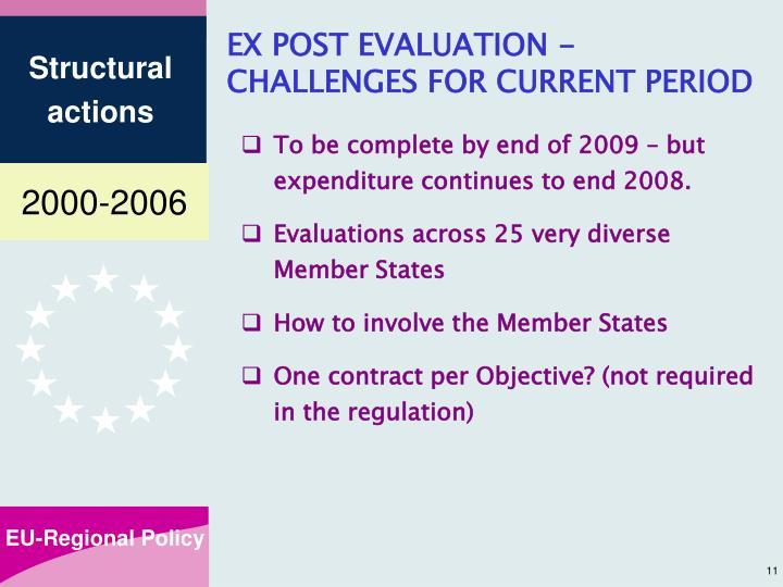 EX POST EVALUATION -