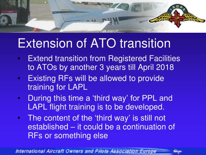 Extension of ATO transition