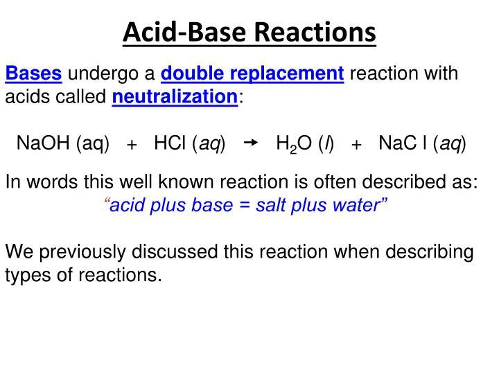 Acid-Base Reactions