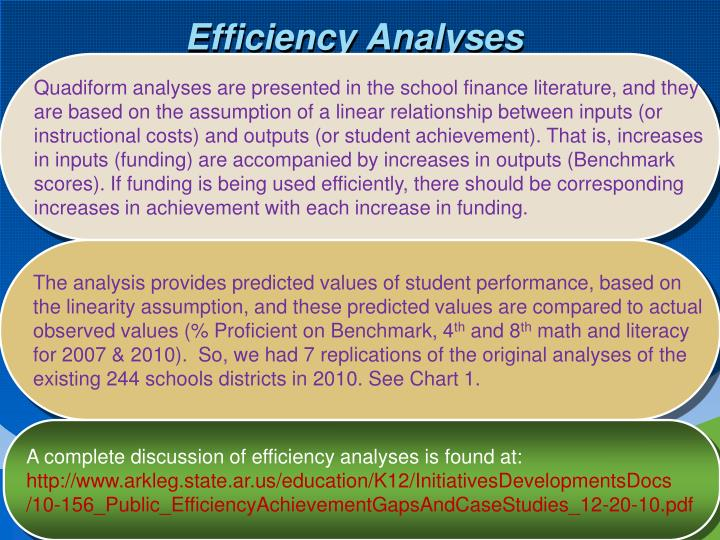 Efficiency Analyses