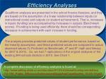 efficiency analyses