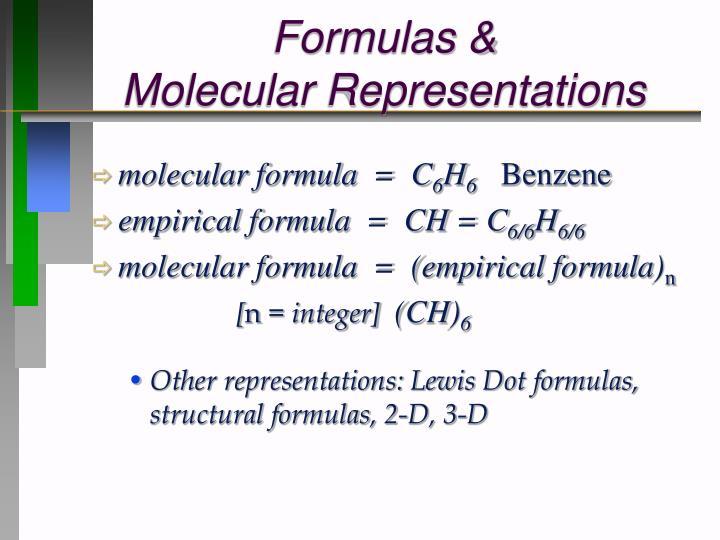 Formulas &