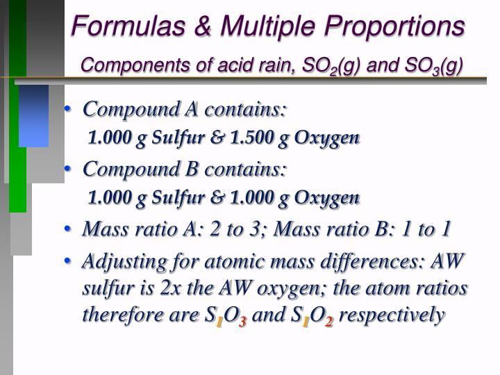 Formulas & Multiple Proportions