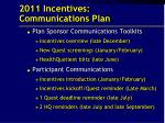 2011 incentives communications plan