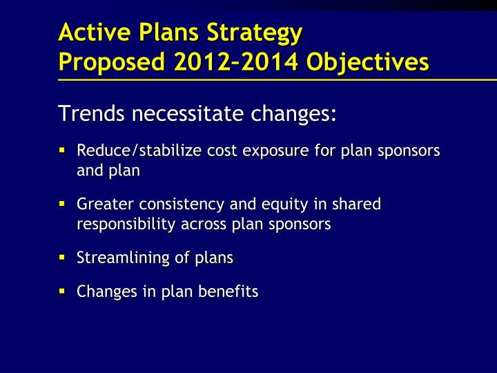 Active Plans Strategy