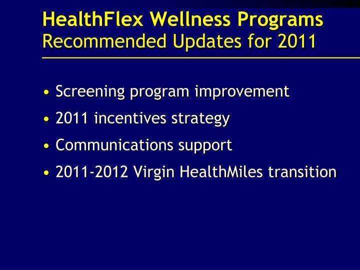 HealthFlex Wellness Programs