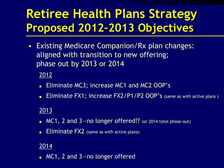 Retiree Health Plans Strategy