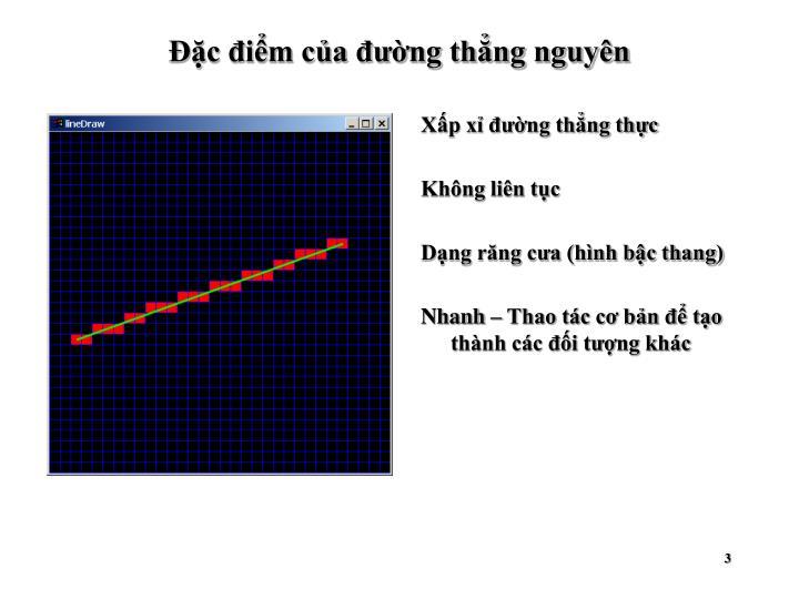 Đặc điểm của đường thẳng nguyên