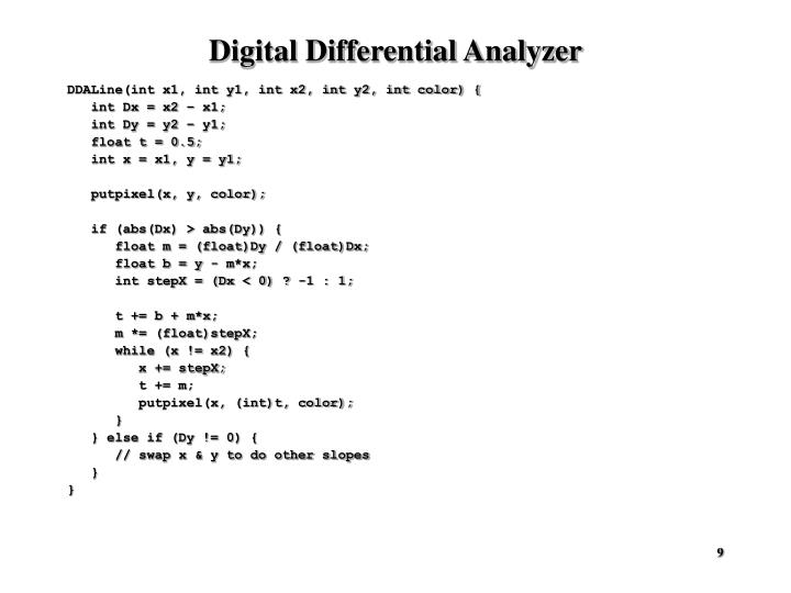 Digital Differential Analyzer