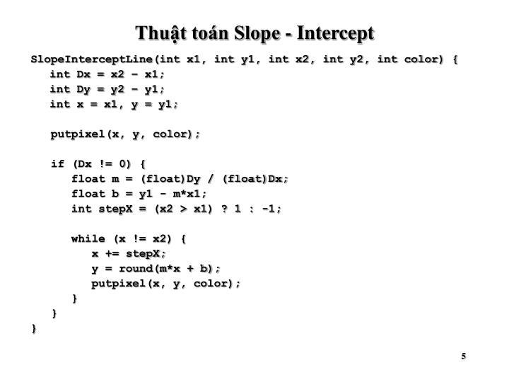 Thuật toán Slope - Intercept