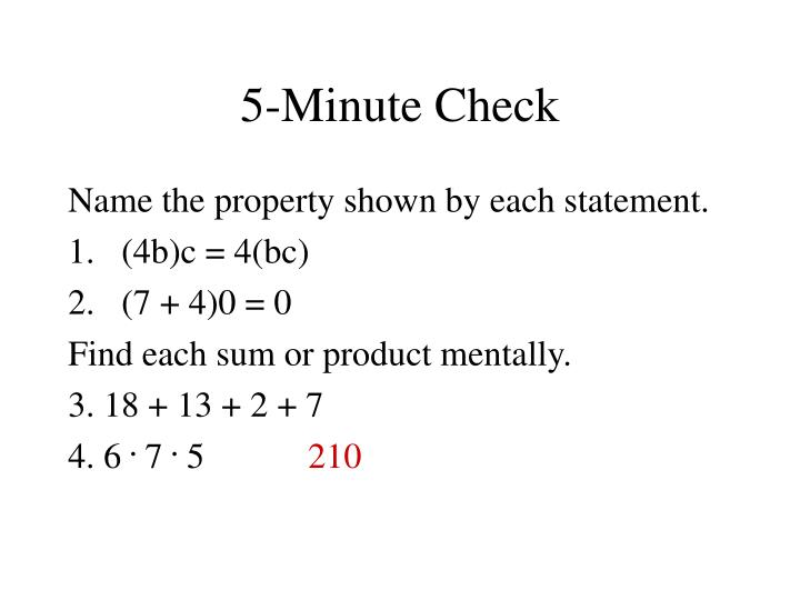 5-Minute Check