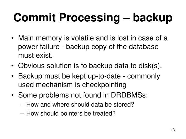 Commit Processing