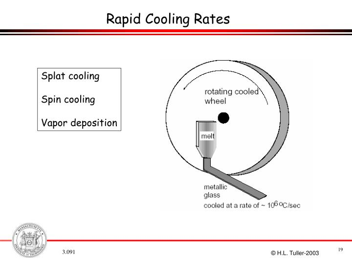 Rapid Cooling Rates