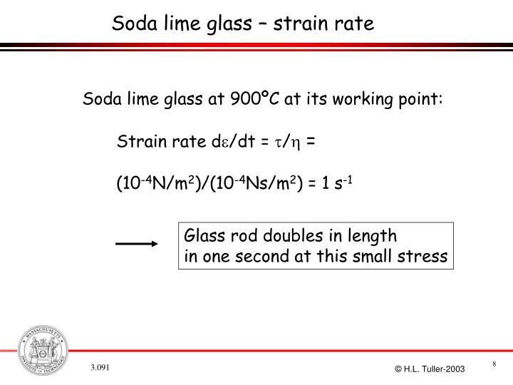 Soda lime glass – strain rate