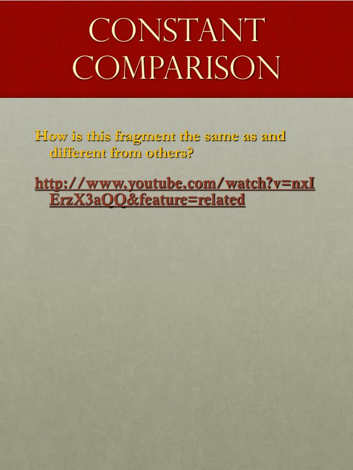 Constant Comparison