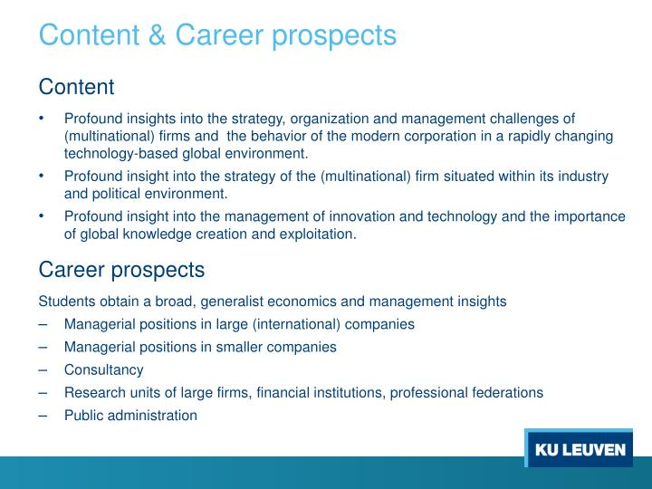 Content career prospects