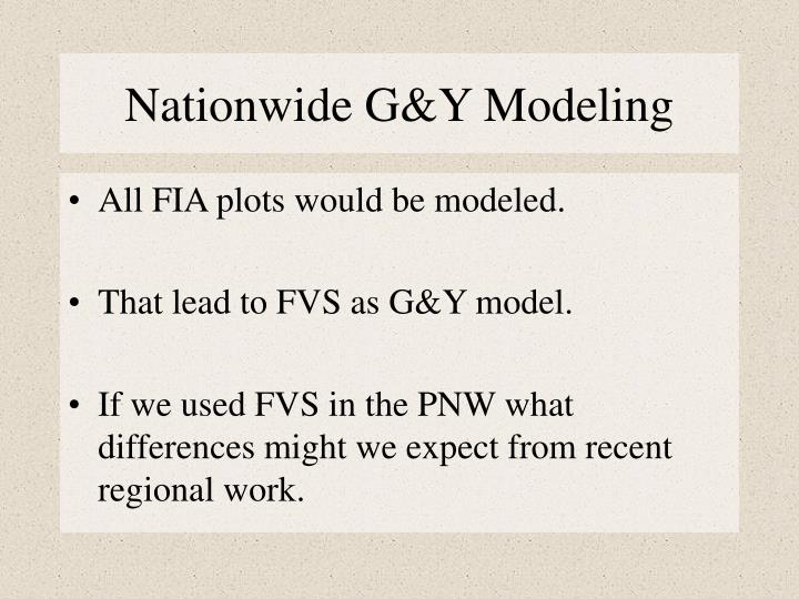 Nationwide G&Y Modeling