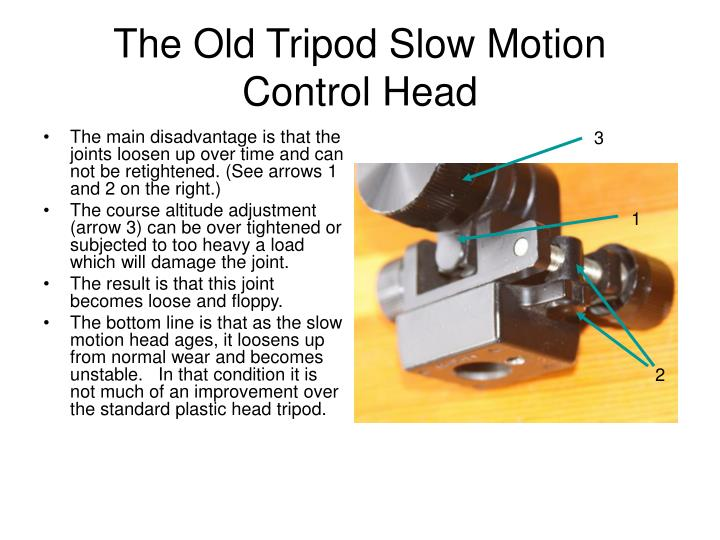 The Old Tripod Slow Motion Control Head
