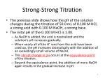 strong strong titration