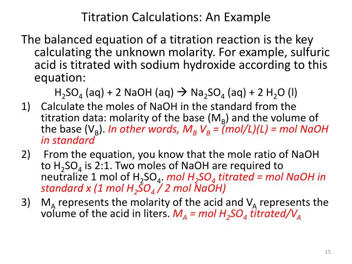 Titration Calculations: An Example