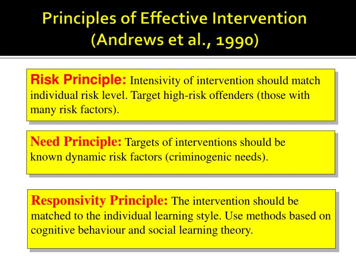 Principles of Effective Intervention