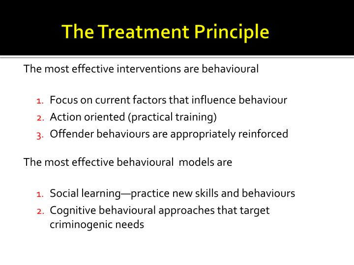 The Treatment Principle