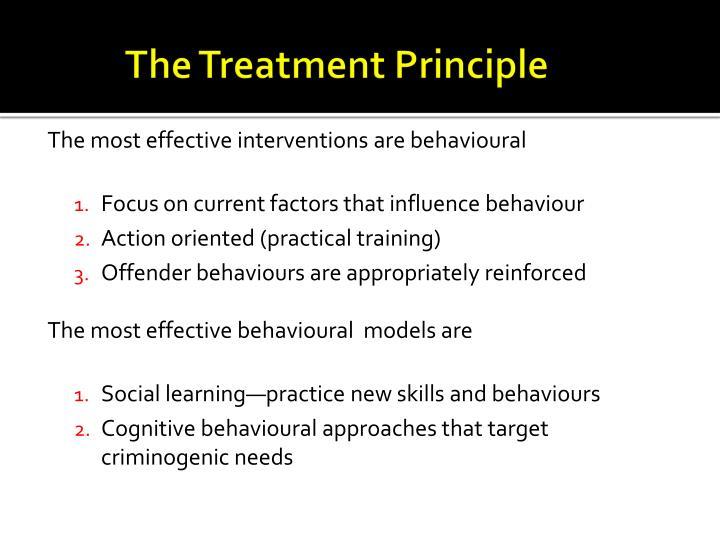 The Treatment Principle
