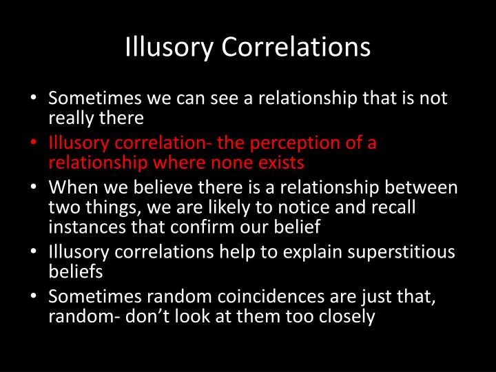 Illusory Correlations