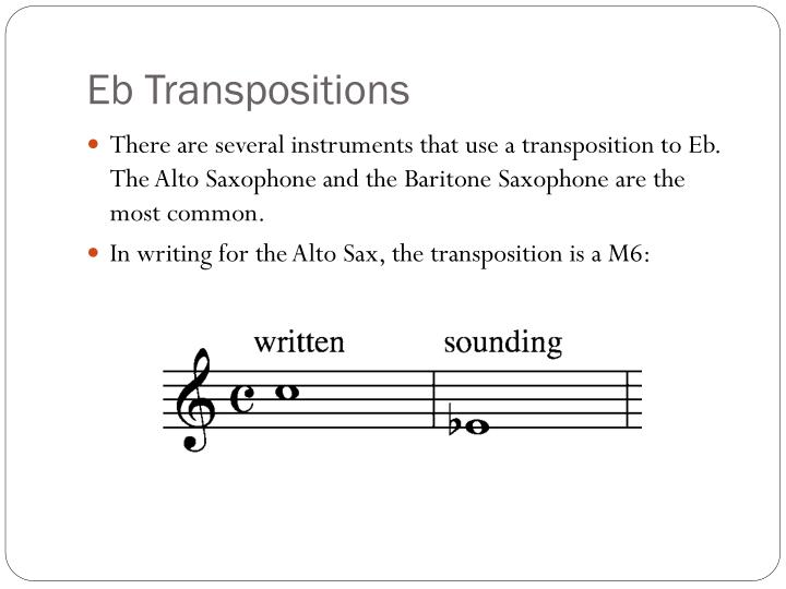 Eb Transpositions