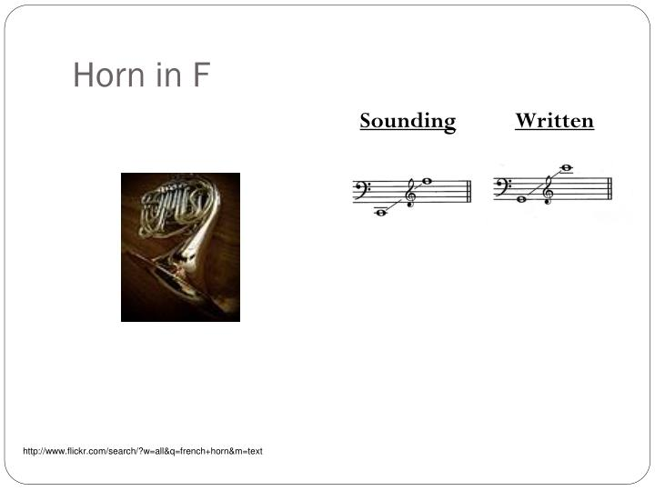 Horn in F