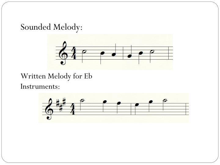 Sounded Melody: