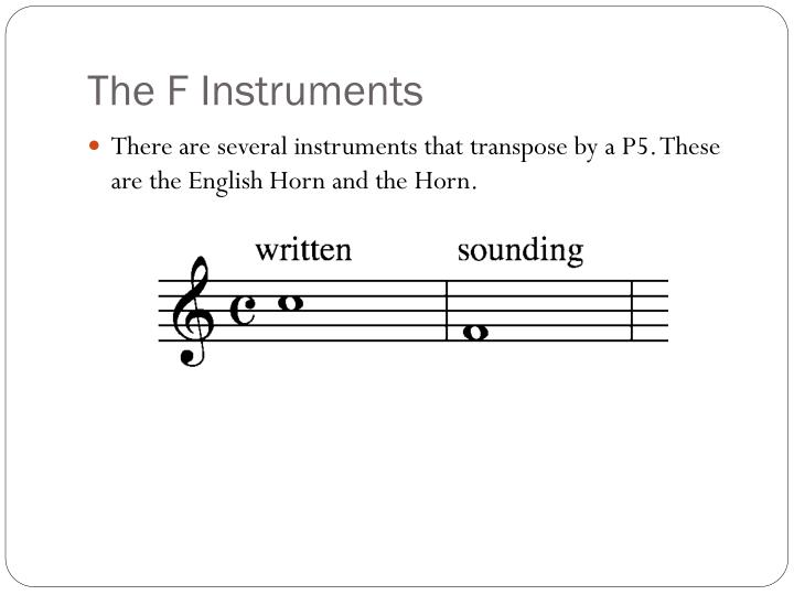 The F Instruments